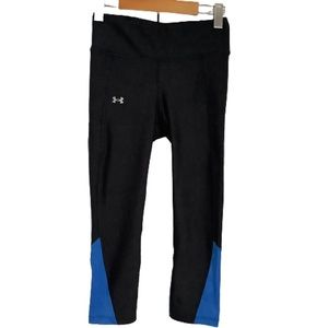 UNDER ARMOUR BLACK CAPRI WORKOUT TIGHTS SIZE S